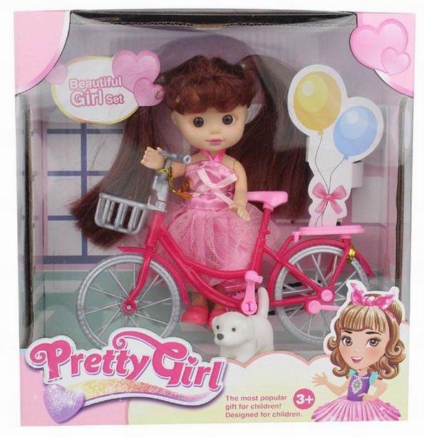 Кукла №658-7В Кукла на велосипеде/коробка/22*6*11