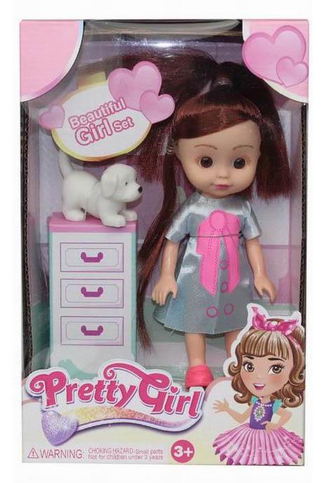 Кукла №658-9А с домашним питомцем/коробка/22*14*6