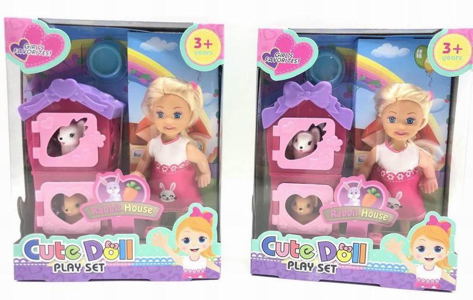 Куколка №86050-2 с питомцем/коробка/17,5*5,5*14