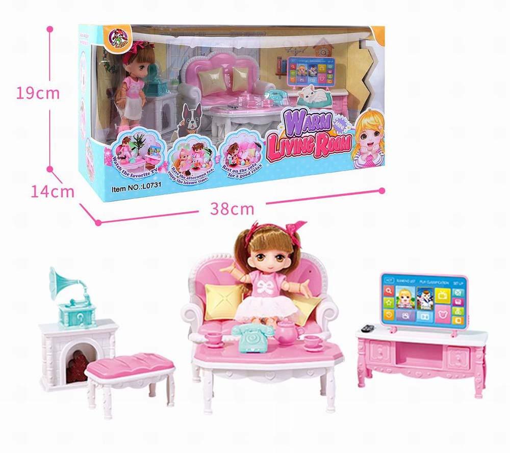 Куколка №L0731 в гостинной/коробка/38*14*19
