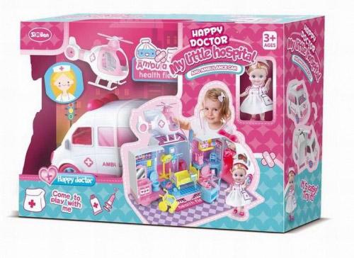 Игровой набор №QL049 мобильный госпиталь с куколкой/коробка/51*16*34