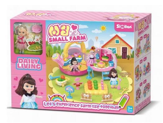 Игровой набор №QL079 Ферма с куколкой/коробка/43,6*16*32