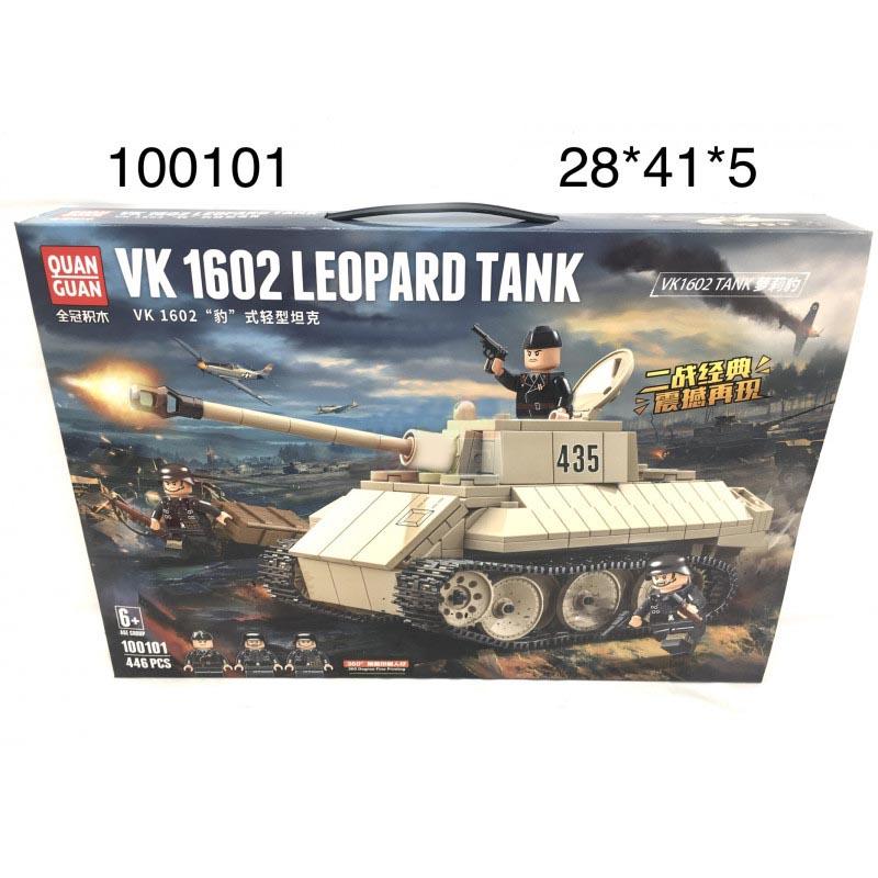 100101 Конструктор Танк 446 дет.