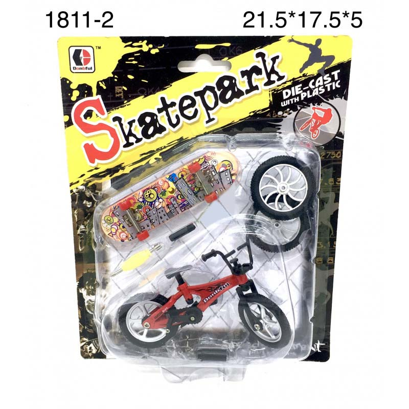 1811-2 Велосипед и скейтборд для пальцев