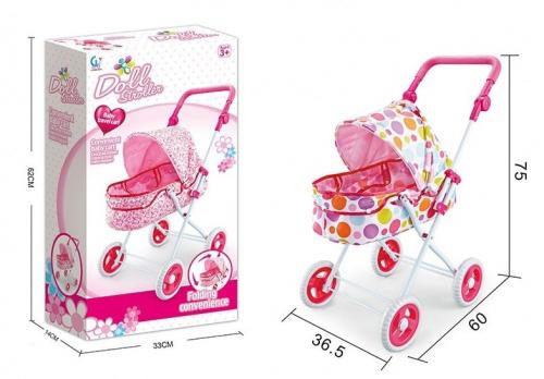 Коляска для кукол №6603AH-4/металл/коробка/62*14*33