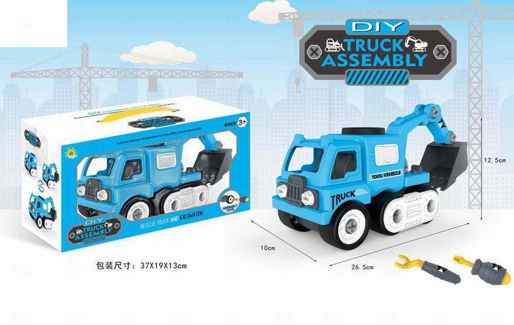 Машина-конструктор №0592-6 с ковшом и ключами/коробка/37*19*13