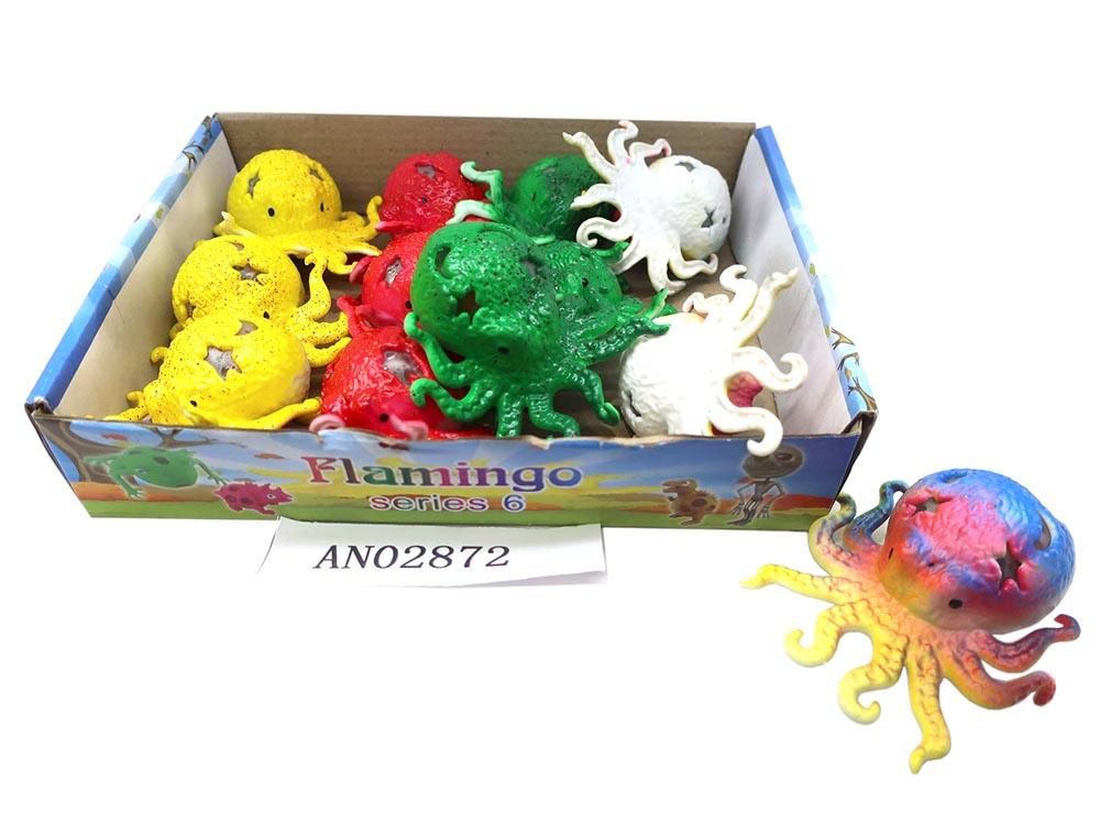 Антистресс-мялка аквагель.ОСЬМИНОГ 6 см (Арт. AN02872)