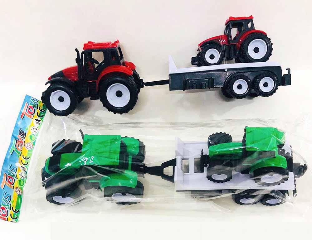 Трактор №669-38 с прицепом инерционный/пакет/40*10*17