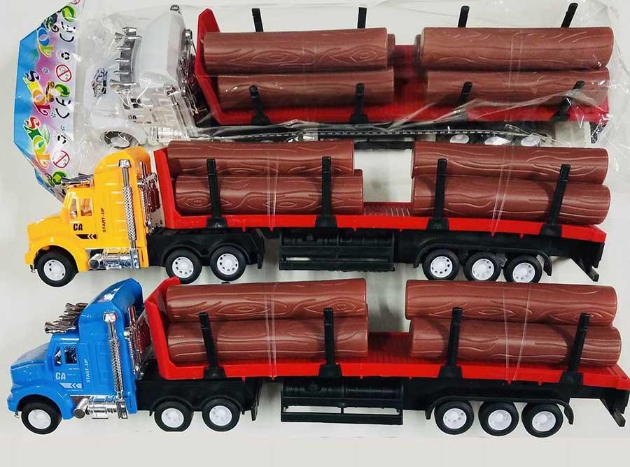 Лесовоз №668-3 с прицепом и дровами инерционный/пакет/32,5*6*8