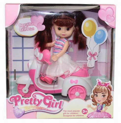 Кукла №658-6В на моторошке/коробка/22*8,5*21