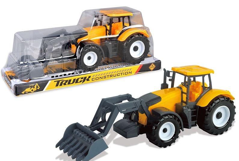 Трактор-погрузчик №0607 инерционный/колпак/33*11,5*14