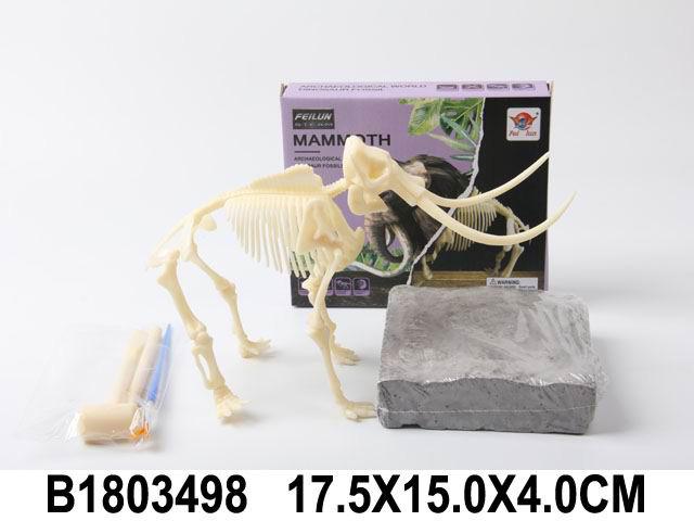 "Набор археолога ""Динозавр №3"" 12,5 см (камень,3 инструмента,книжка) (Арт. 1803498)"