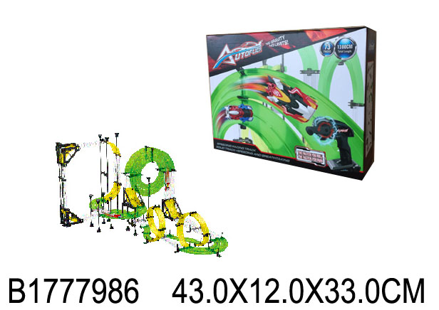 "Автотрек (43x33см) ""ЖАЖДА СКОРОСТИ""(свет, 2 машинки, в коробке) (арт. 1777986)"