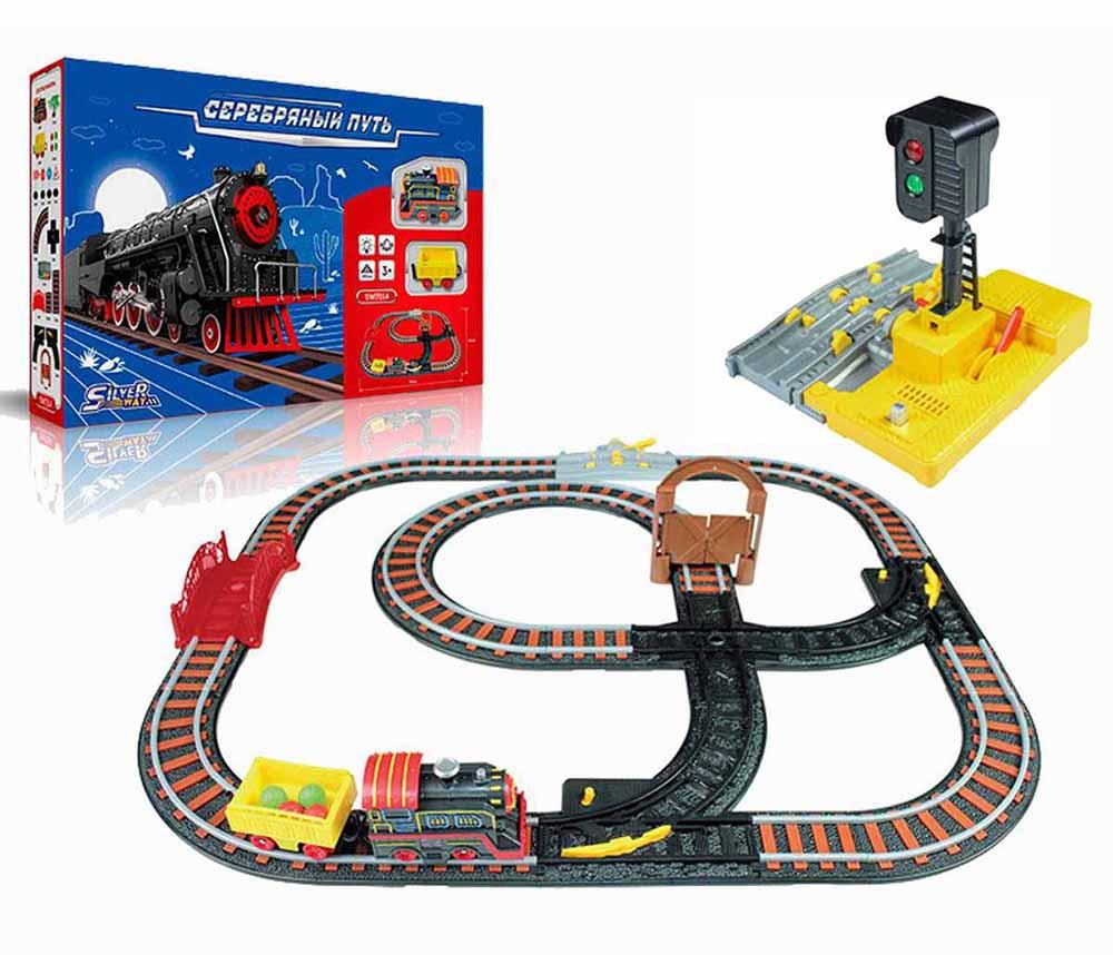 """Железная дорога (49х31см) SILVERWAY """"ЭКСПРЕСС"""" (1 поезд, 1 вагон, длина пути 392 см) (арт. SW7114L)"""