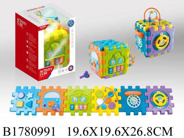 """Музыкальная игрушка """"Активити куб"""" (звук,бат. 3*ААА не в компл.) в кор.(19,6х26,8см) (Арт. 1780991)"""