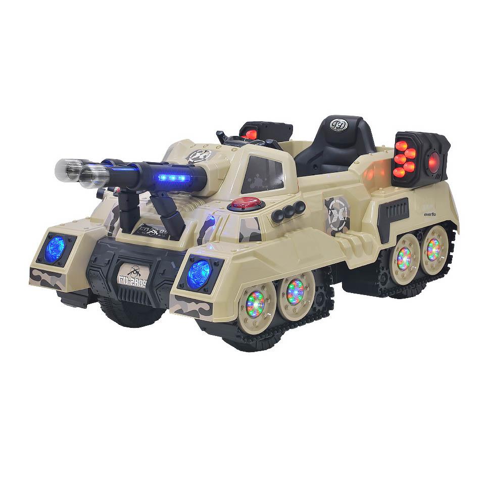 Аккумуляторная детская машина Everflo Tank Khaki ЕА2809