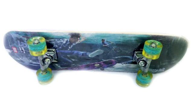 Скейт E27668 дерево, колеса PU свет, крепление аллюминий, 80*20см /6шт//бл./