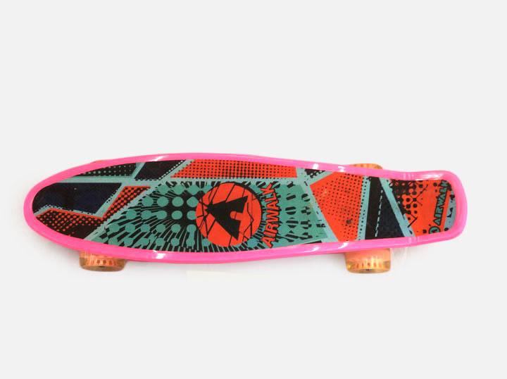 Скейт C23596 (наждачка) PU 5-6 цветов 56*14cm в пакете