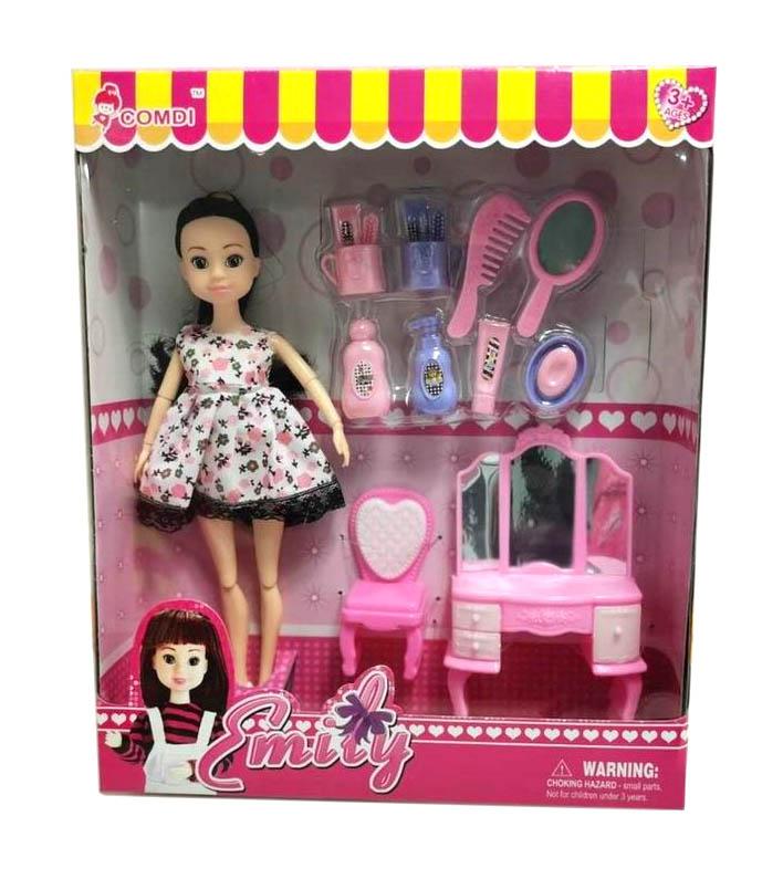 Кукла №KD044-4 с мебелью и аксессуарами/коробка/30*25*6
