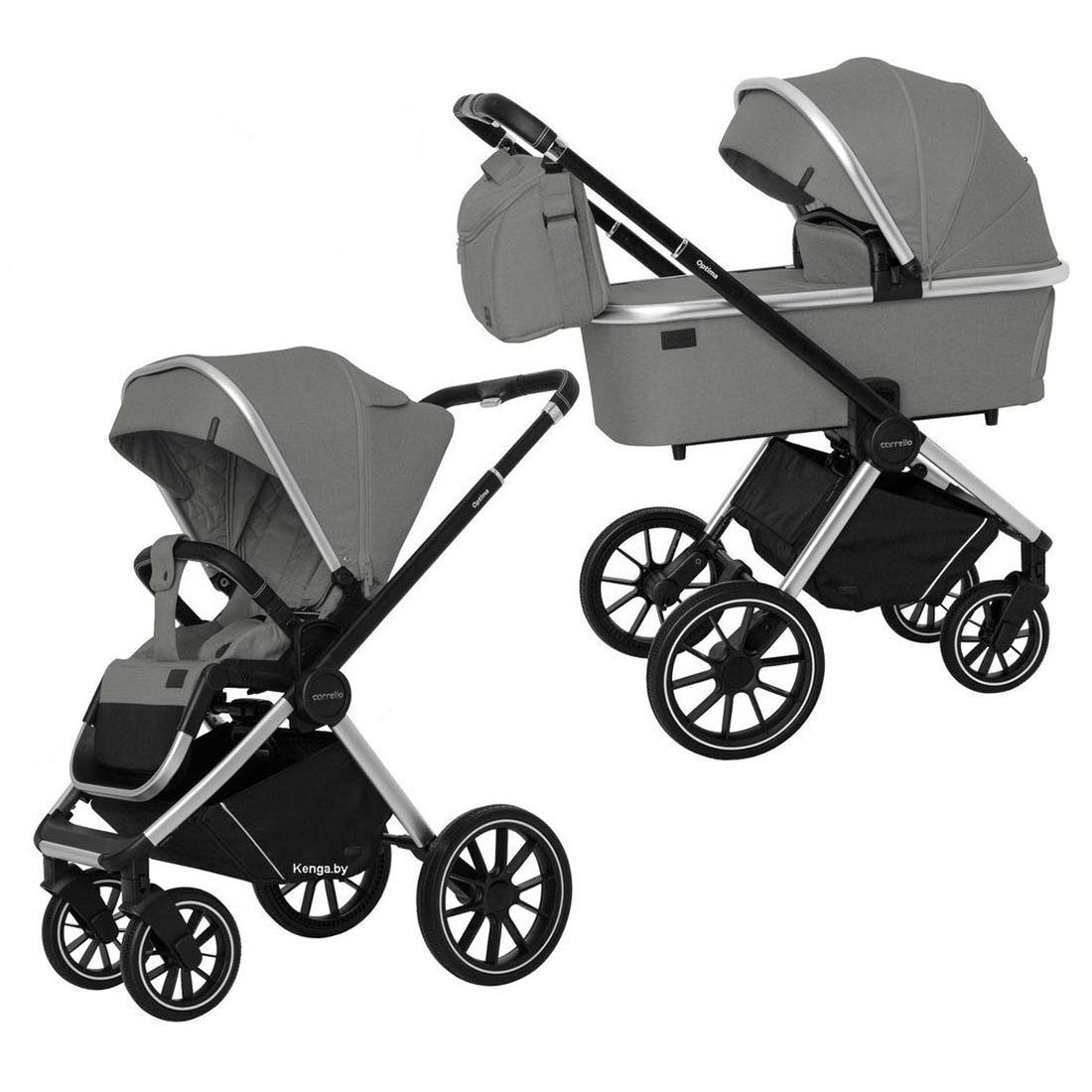 Детская коляска 2 в 1 CARRELLO CRL-6503 Optima Mirror Grey