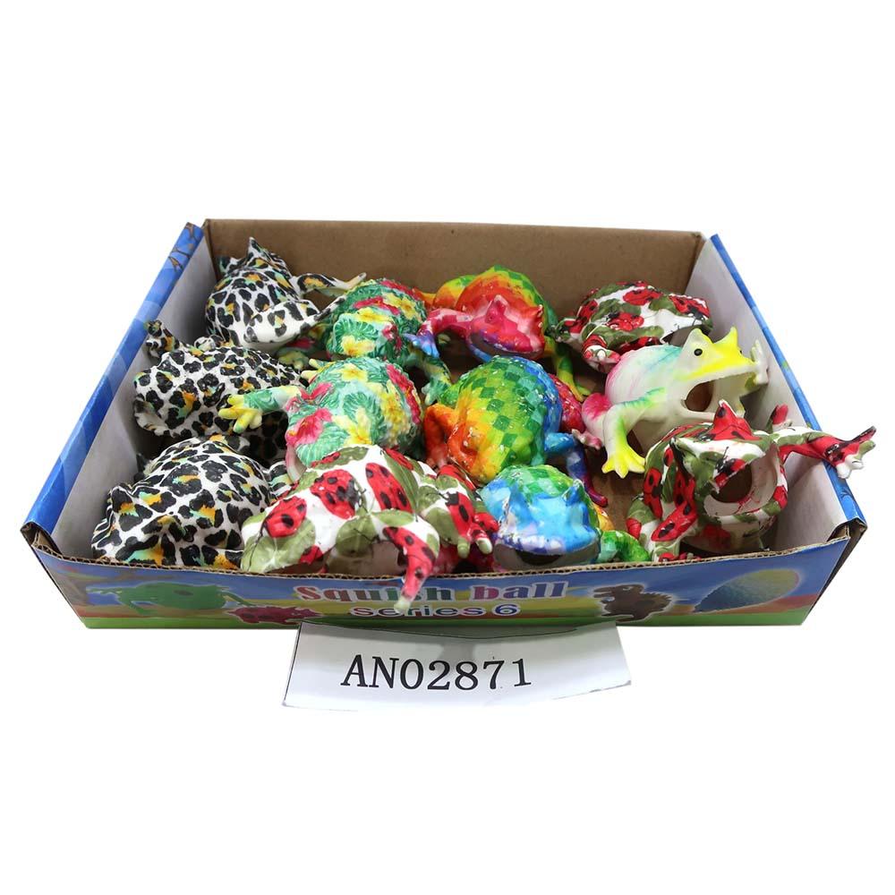 Антистресс-мялка аквагель.ЛЯГУШКА (12 шт. в ш/б) 6 см (Арт. AN02871) кратно12