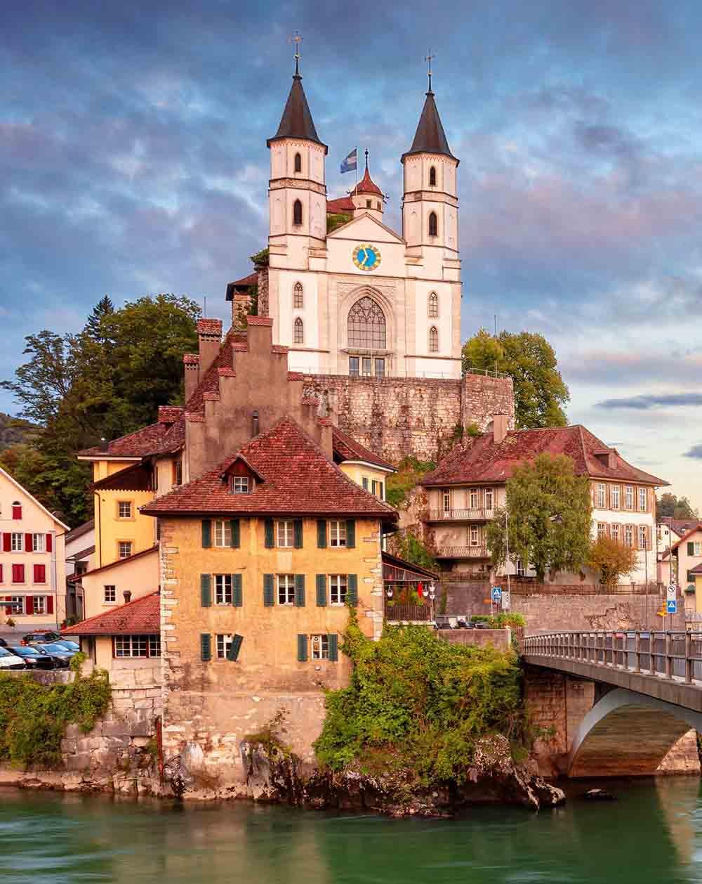 Холст с красками 17х22 по номер. в кор. (14цв.) Швейцарский замок Арбург (Арт. ХК-8139)