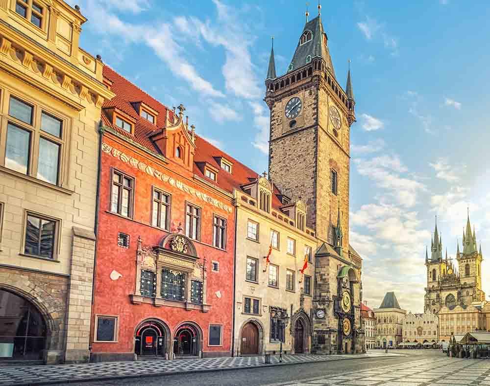Холст с красками 17х22 см по номерам (в коробке), (13цв) Старая часовня в Праге (Арт. ХК-3973)