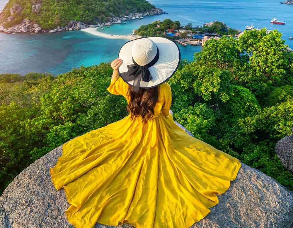 Холст с красками 17х22 по номер. в кор. (14цв.) Девушка в платье на фоне моря (Арт. ХК-8141)