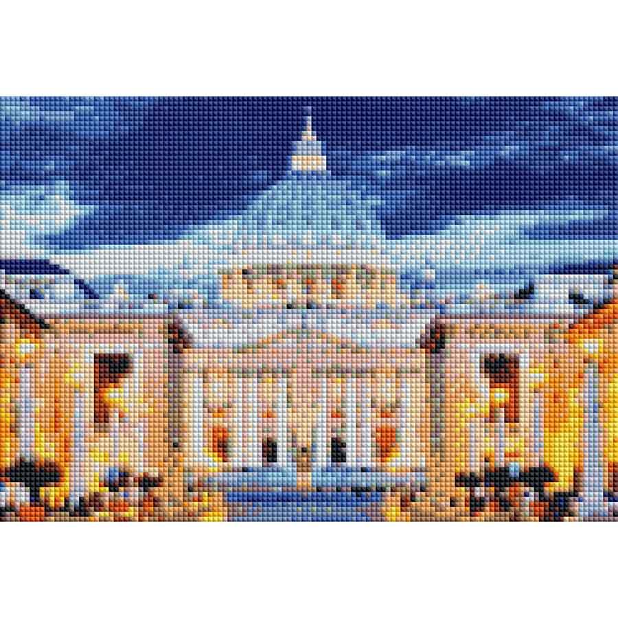 Алмаз.моз.квадрат.22x32(класс.) с подр.,полн.зап.(25 цв.)Собор Святого Петра в Ватикане(Арт. F3-006)
