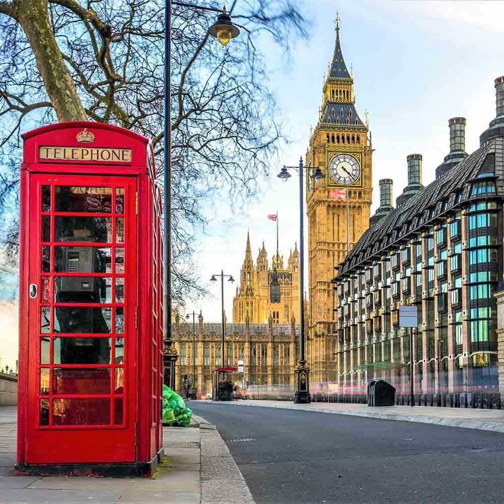 Алмазная мозаика (блест) 30х30 с подр., с полн.запол. Прекрасный Лондон (Арт. AS30016)