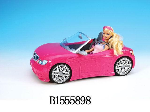 """Машинка для куклы """"РОЗОВЫЙ КАБРИОЛЕТ"""" Арт.1555898"""