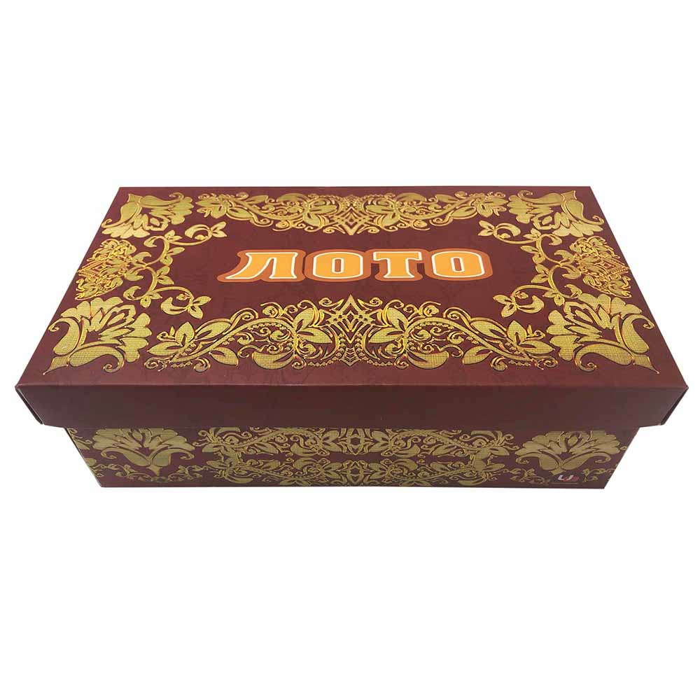 Лото пластиковое с золотым тиснением (23x11x8 см) в картонной коробке (целые бочонки) (Арт.AN03225)