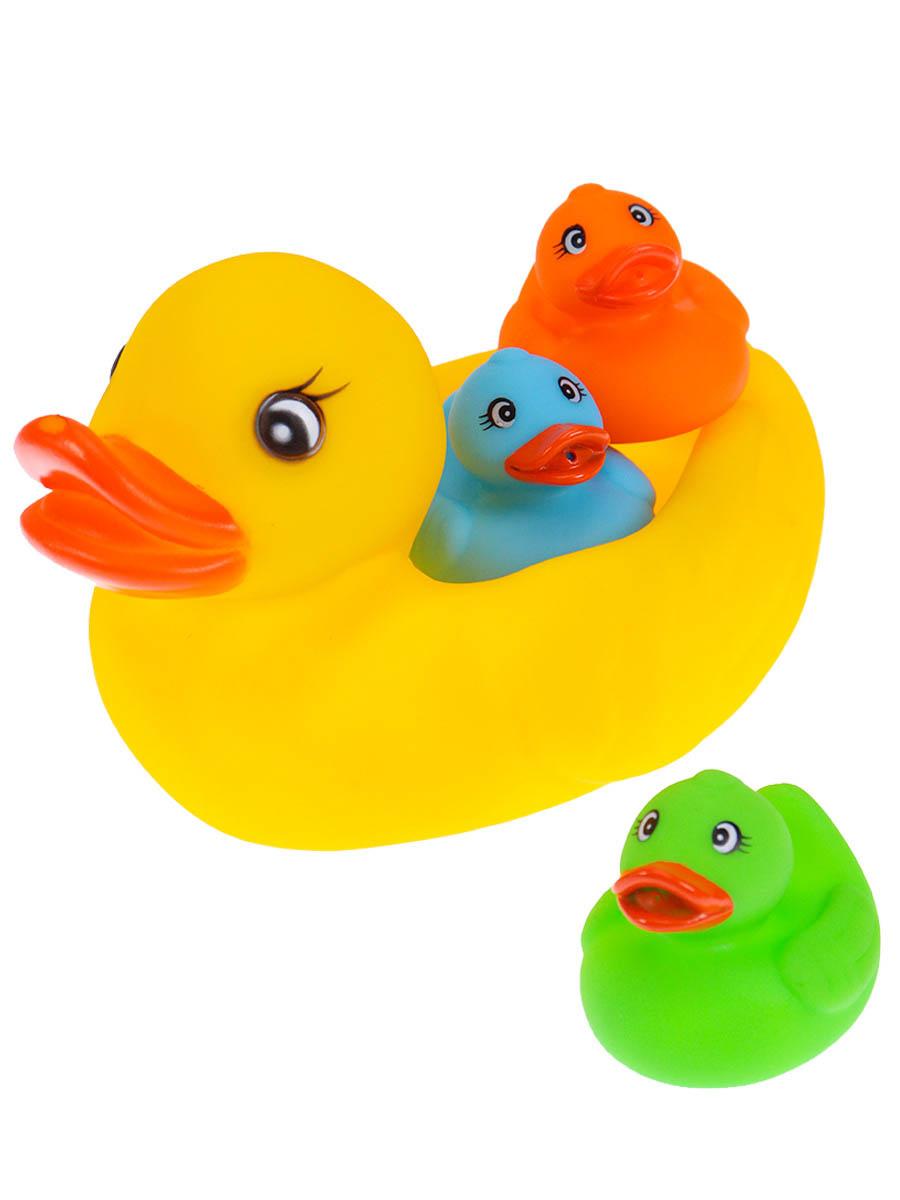 "Набор для купания ""Уточки 2"" (4 шт, ПВХ, больш.12х7х8см, мал.5,5х5х5,5см) (Арт. M7339-29)"