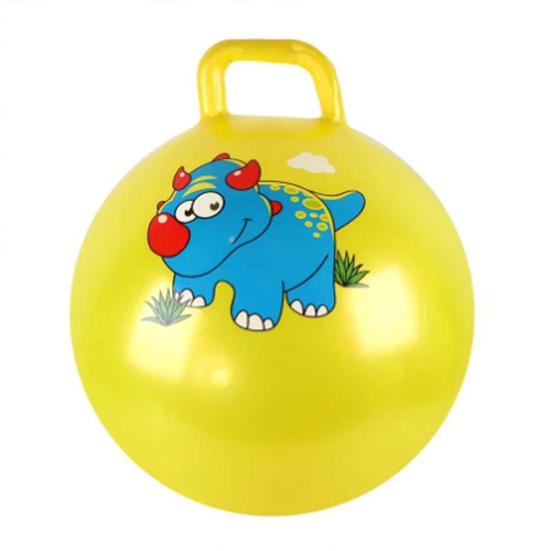 """Мяч прыгун №25-13 """"Динозаврик"""" с ручкой/d45/300г"""