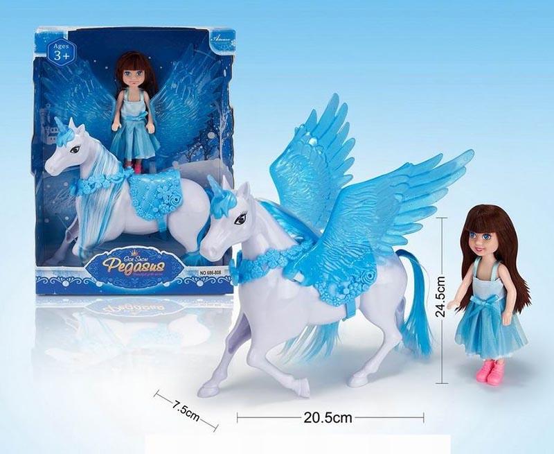 Набор №686-808 Куколка с Пегасом/коробка/27,5*6*19