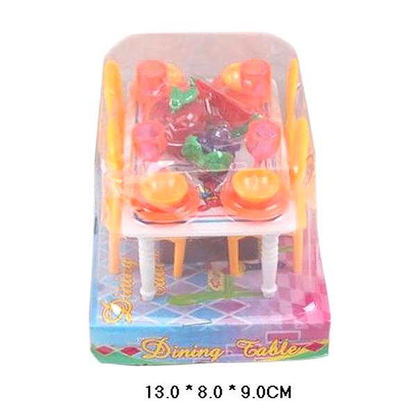 Набор кукольной мебели для столовой под блистером 11.0х13.0х10.0 см 967