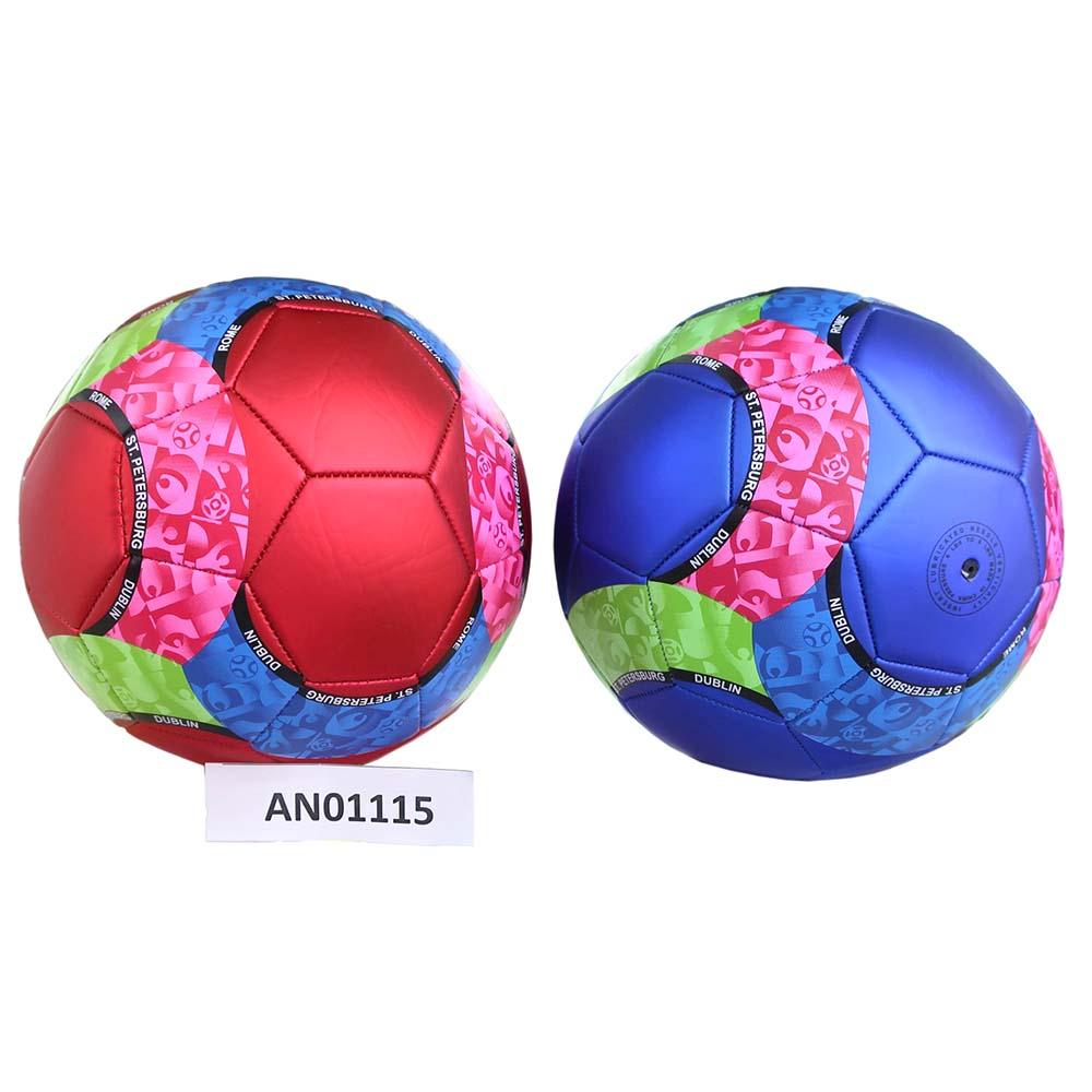 Мяч футбольный ПУ (320 гр), цветной, 4 цвета Арт.AN01115