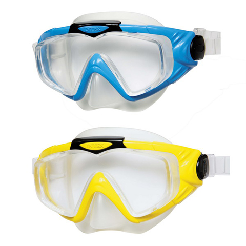 Маска 55981 Профи гипоаллергенный силикон,термопластик,2 цвета (син.,желт.)