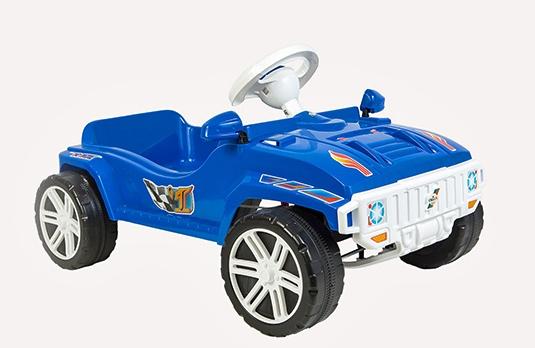 Машина для катания Педальная синяя 792