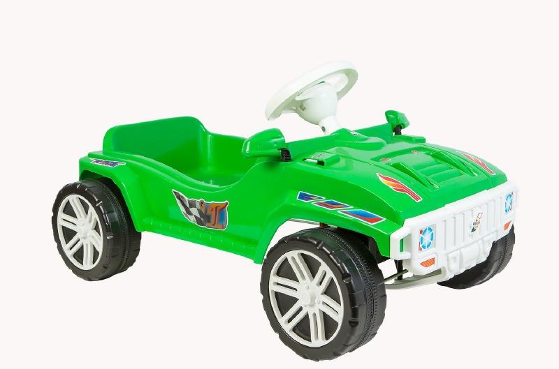Машина для катания Педальная зел 792