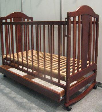 """Кроватка детская """"Наполеон """"(ящик) тон."""