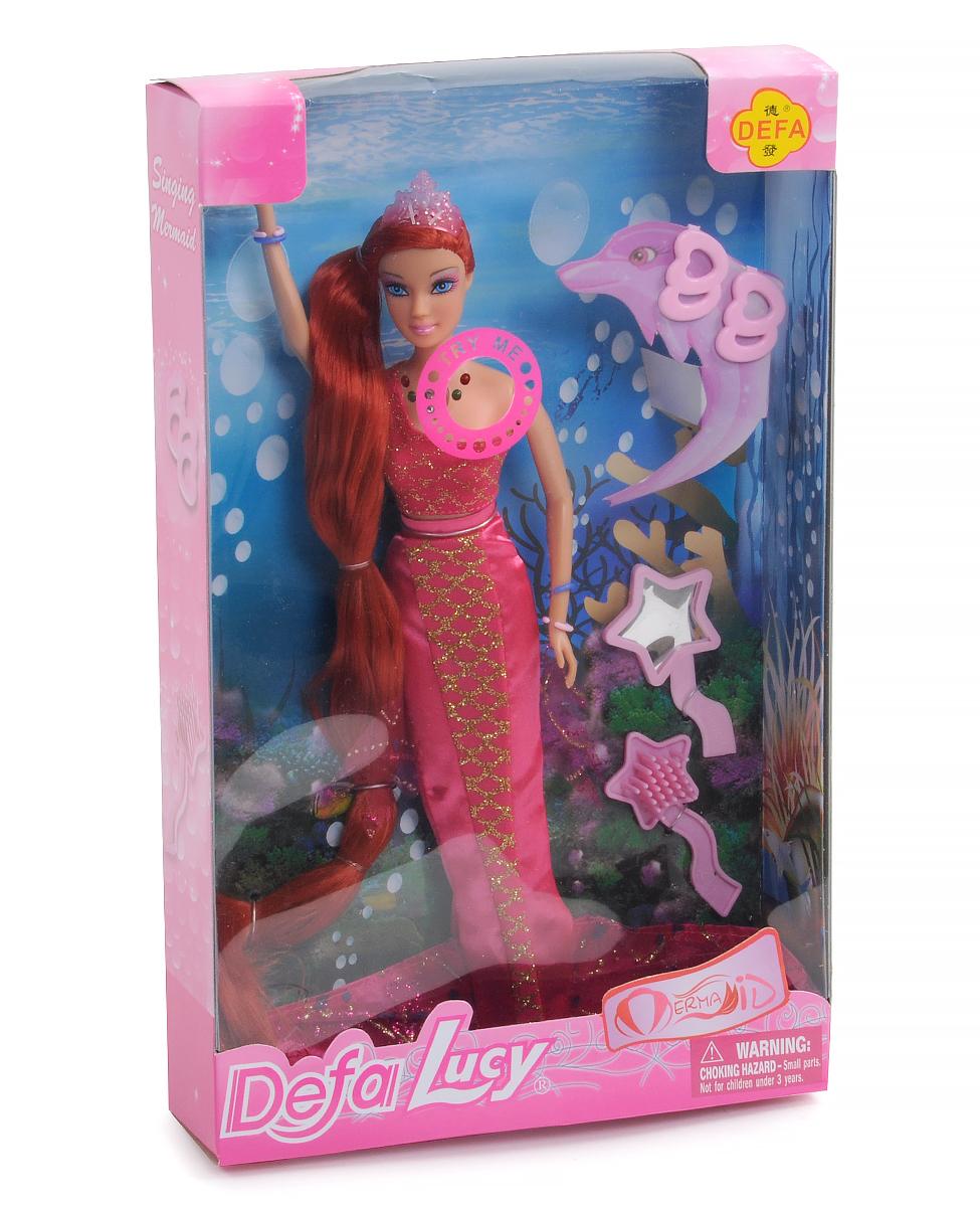 Кукла DEFA 31см 8230 русалка (муз.свет.кор.20,5*5,5*33)