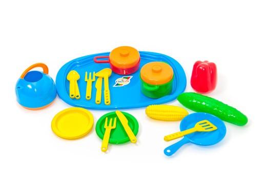 Набор детской посуды с разносом 990 В2