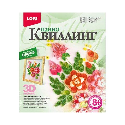 """Квиллинг. Панно """"Пышные цветы"""" Квл-011"""