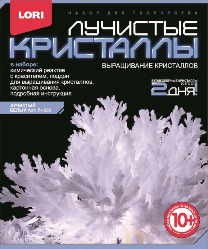 "Лучистые кристаллы ""Белый кристалл"" Лк-006"