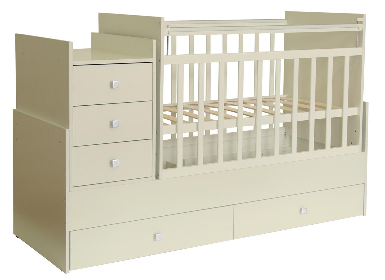 Кроватка детская Фея  1100 белый-слоновая кость