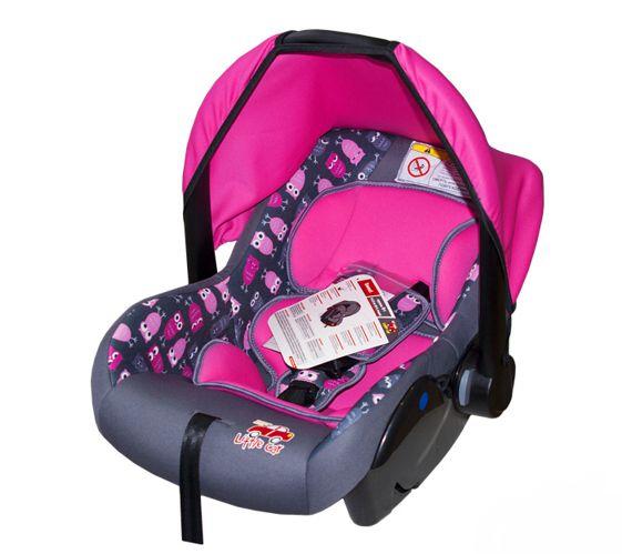 Автокресло детское 0-13кг. Little Car Sweet совы-розовый 126290