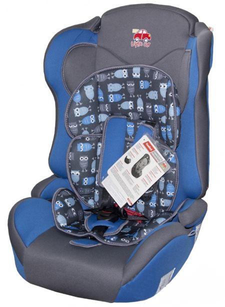 Автокресло детское 9-36кг. Little Car Comfort совы-синий 126279