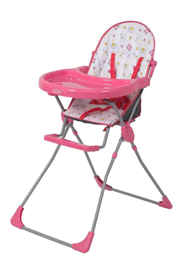 Стульчик для кормления Selby 152 розовый