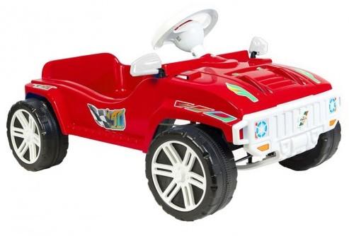 Машина для катания Педальная красная  792